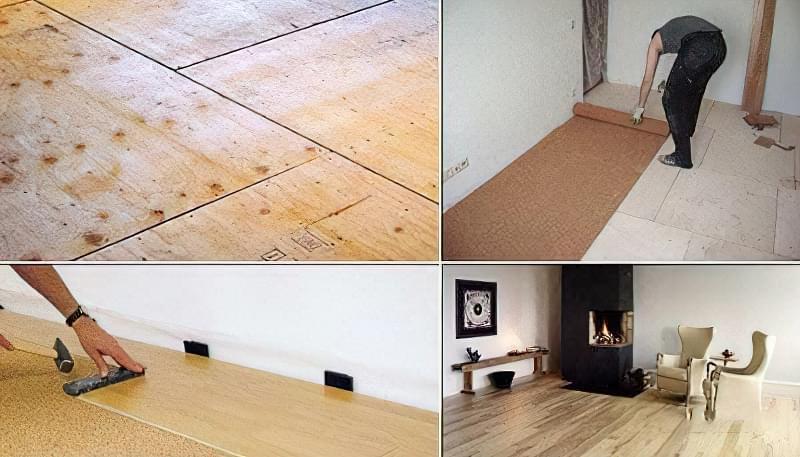 Укладання ламінату поверх дерев'яної підлоги 1