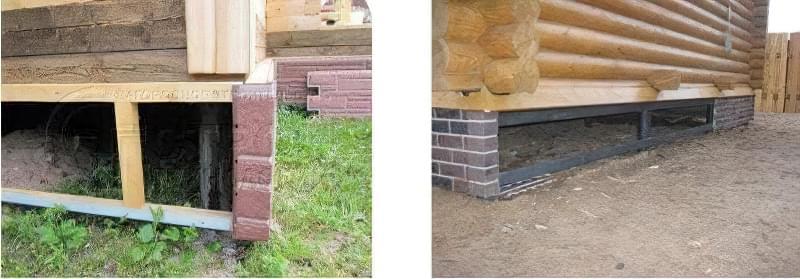 Варіанти обробки цоколя пальово-гвинтового фундаменту 2