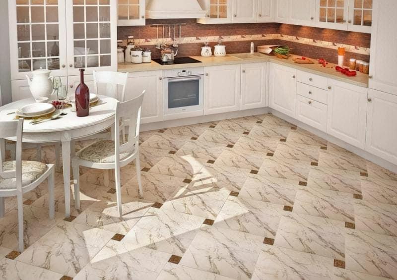 Красива плитка для підлоги на кухню