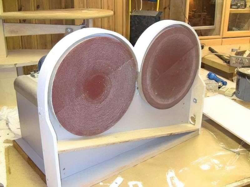 Шліфувальний верстат своїми руками з двома шліфувальними дисками 1