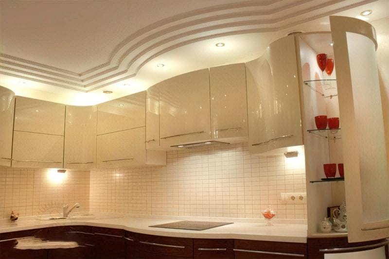 Стеля на кухні: варіанти обробки, плюси, мінуси 4
