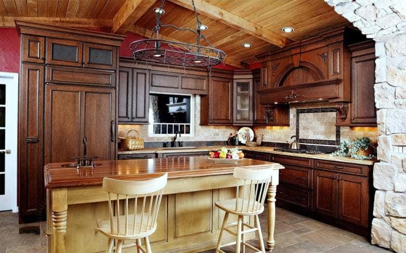 Стеля на кухні: варіанти обробки, плюси, мінуси 6