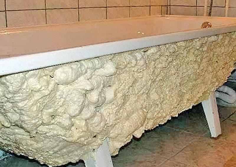 Як утеплити сталеву ванну своїми руками 2