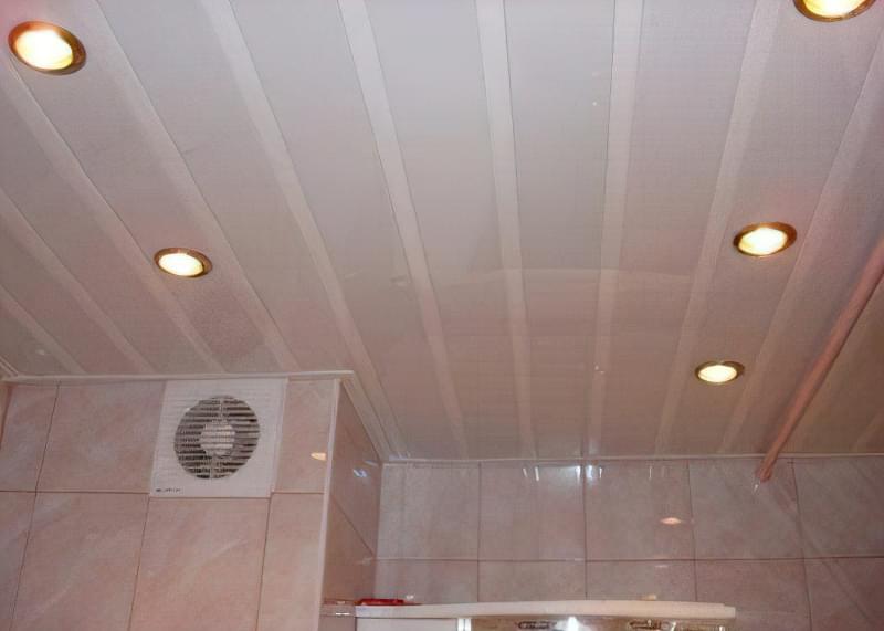 Як зробити стелю з пластикових панелей у ванній і на кухні? 4
