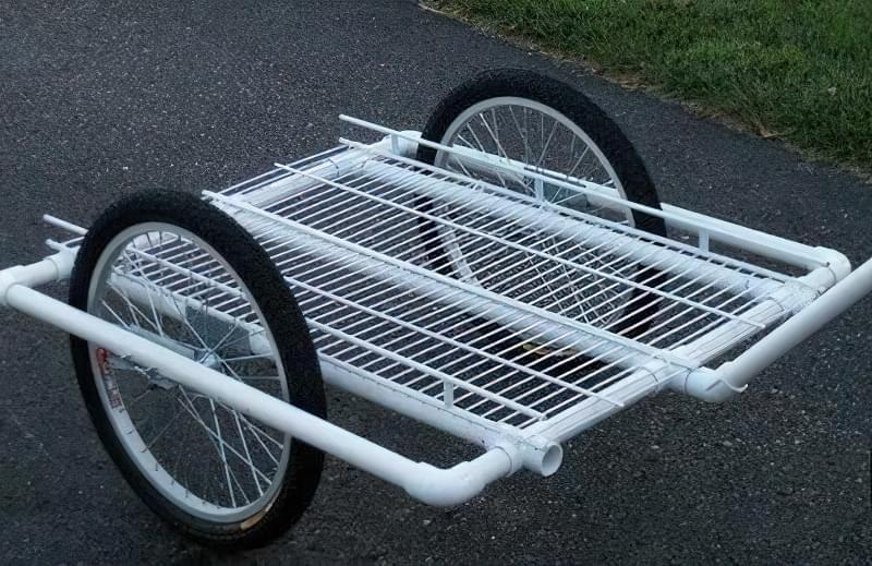 Робимо велосипедний причіп з ПВХ труб 2
