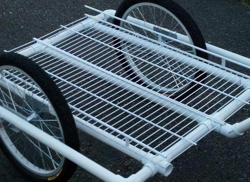 Робимо велосипедний причіп з ПВХ труб 1