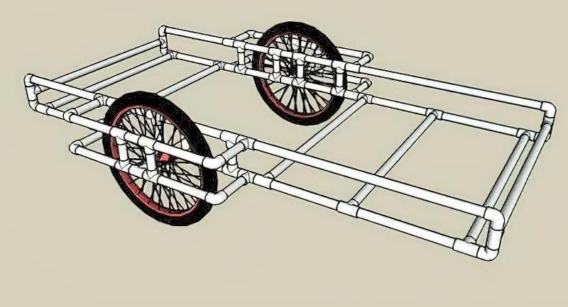 Робимо велосипедний причіп з ПВХ труб