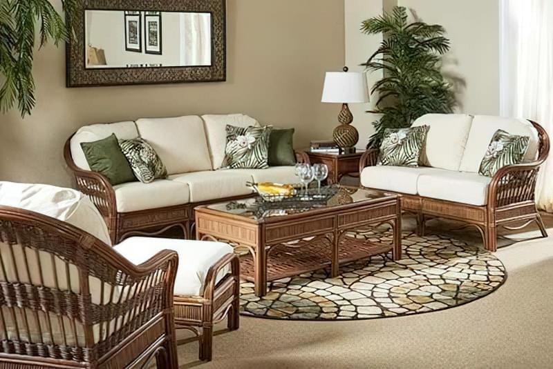 Переваги меблів з ротанга для дому, саду та кафе