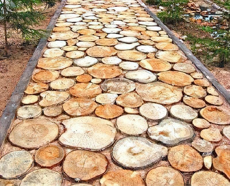 Дерев'яні доріжки на дачі: недорого, технологічно і практично 1
