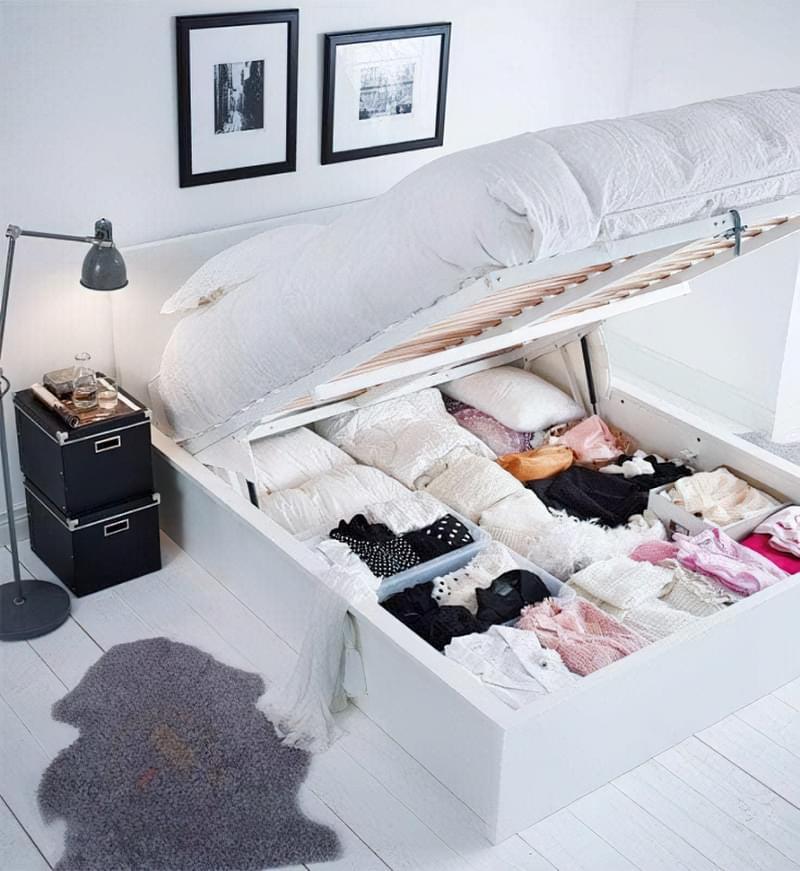 Місця зберігання під ліжком: плюси, мінуси, варіанти 2