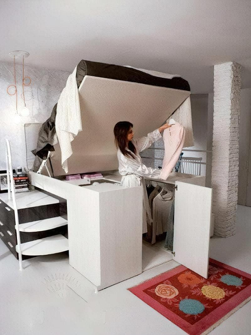 Місця зберігання під ліжком: плюси, мінуси, варіанти 11