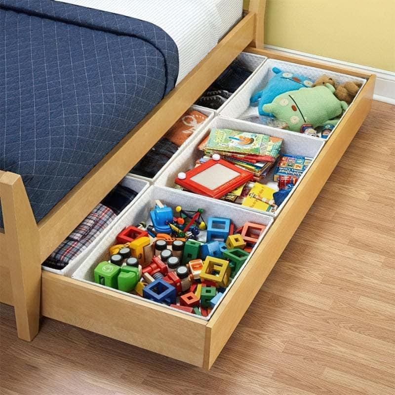 Місця зберігання під ліжком: плюси, мінуси, варіанти 6
