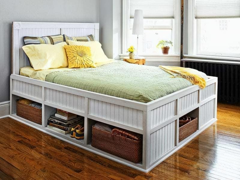Місця зберігання під ліжком: плюси, мінуси, варіанти 8