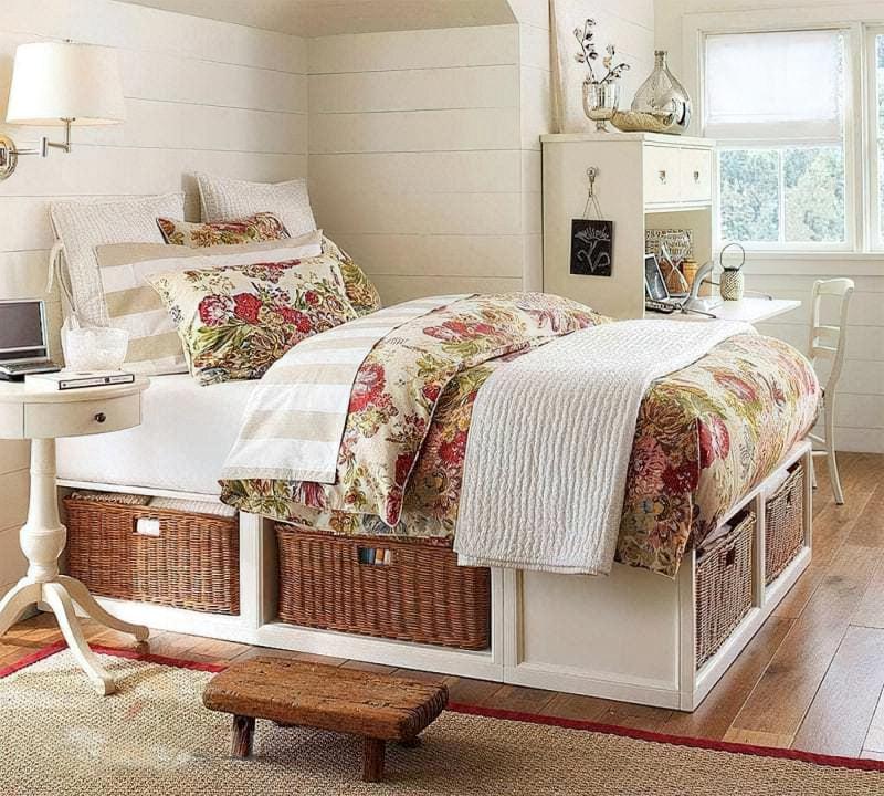 Місця зберігання під ліжком: плюси, мінуси, варіанти 9