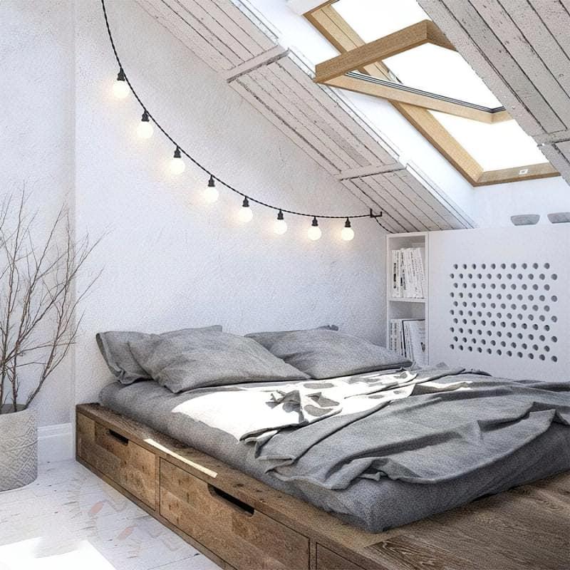 Місця зберігання під ліжком: плюси, мінуси, варіанти 10