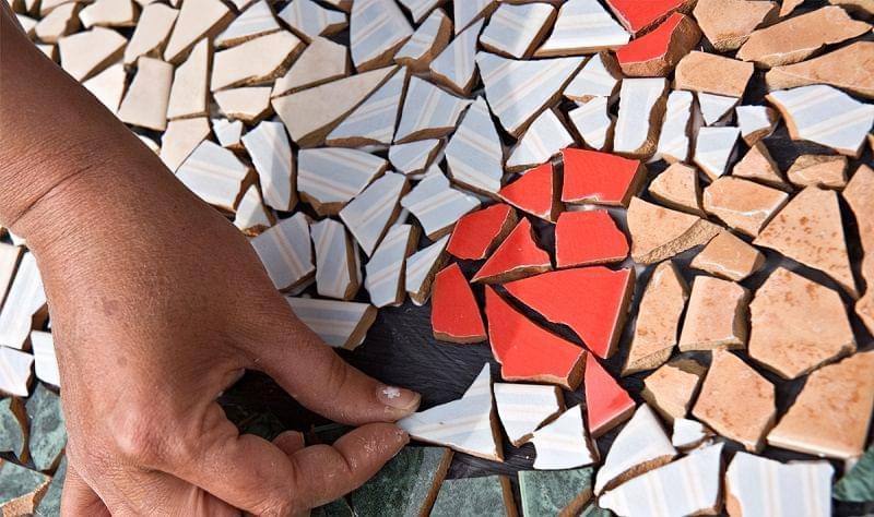 Мозаїка з битої плитки: як зробити своїми руками 5