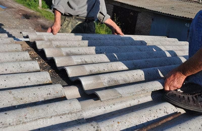 Як демонтувати старий шифер з покрівлі 4