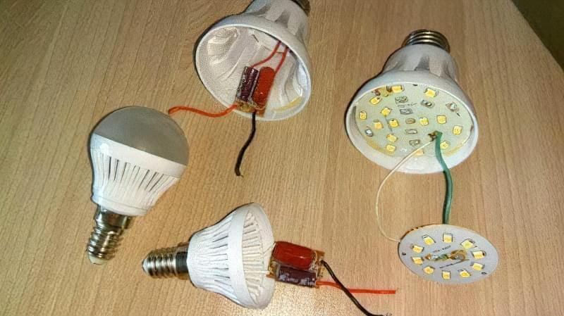 Як відремонтувати світлодіодну лампочку на 220 В 2
