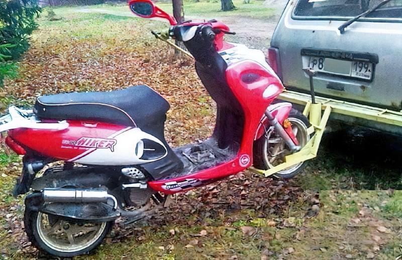 Спеціальний причіпний пристрій для перевезення скутера 3