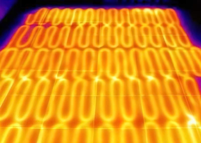 Пошук витоків в теплій підлозі тепловізором