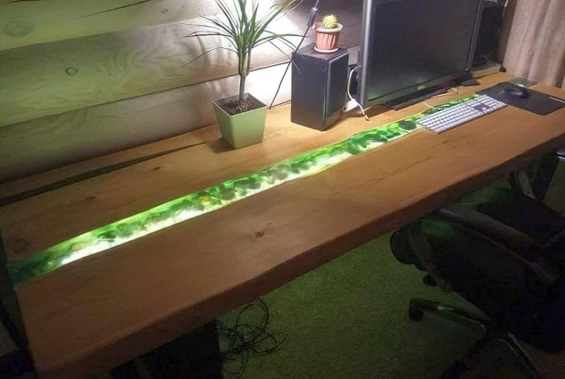 Стільниця з епоксидної смоли — робимо оригінальний стіл 2