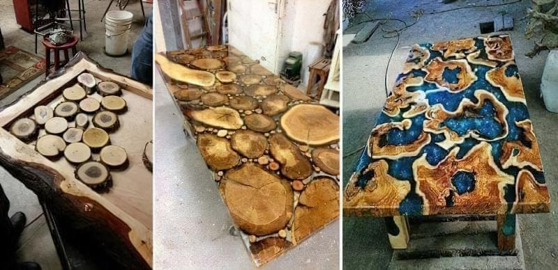 Стільниця з епоксидної смоли — робимо оригінальний стіл 7