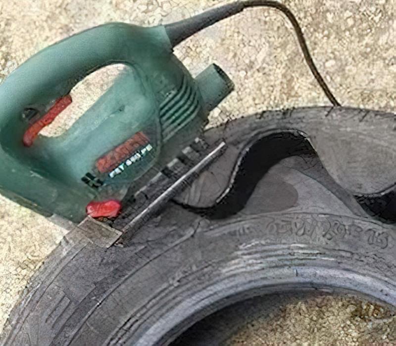 Як зробити доріжку зі старих покришок