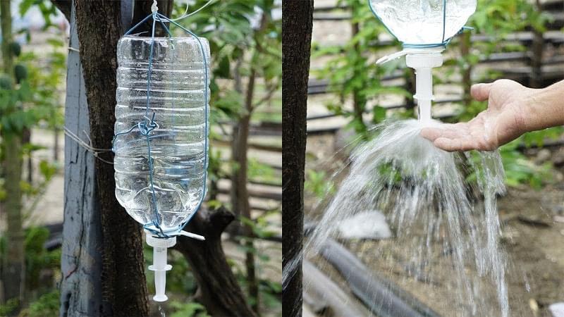 Що можна зробити на дачі з пластикових пляшок 3
