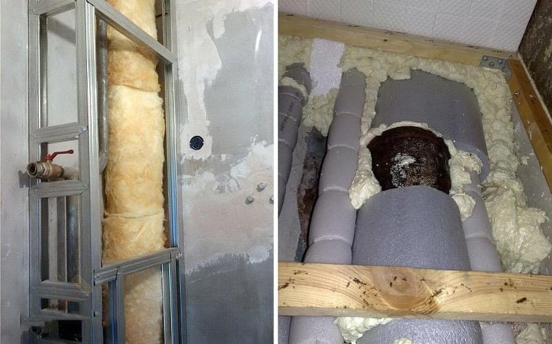 Шумоізоляція каналізаційного стояка в квартирі 6