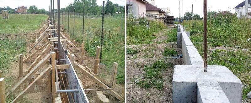 Як побудувати паркан з декоративних блоків 4