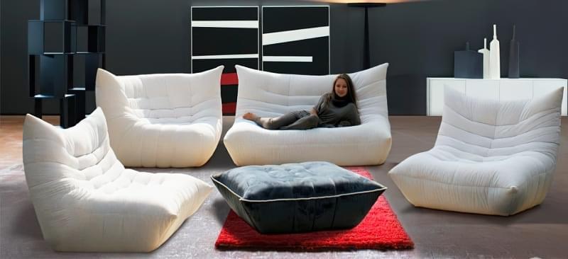 Безкаркасні дивани: особливості, плюси, мінуси, приклади 9