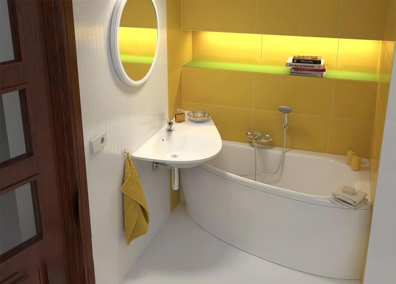 Міні-раковини в інтер'єрі ванної та санвузла 1