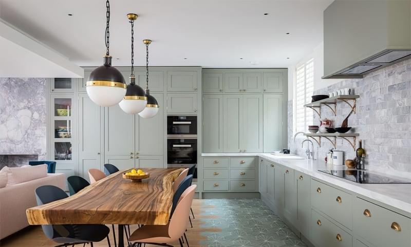 10 прикладів незвичайного підлогового покриття на кухні 2