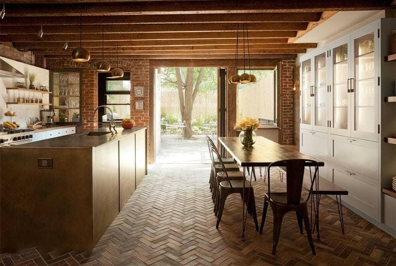 10 прикладів незвичайного підлогового покриття на кухні 3