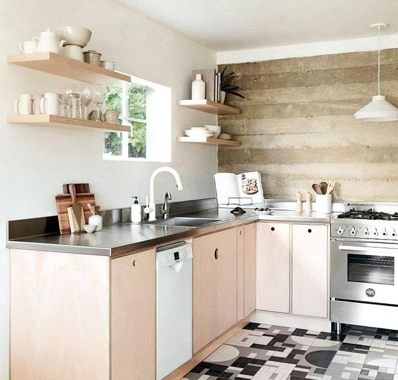 10 прикладів незвичайного підлогового покриття на кухні 8