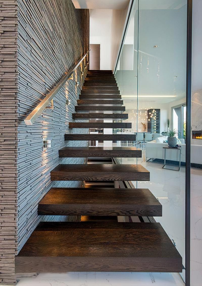 Варіанти підсвічування сходів в будинку 3