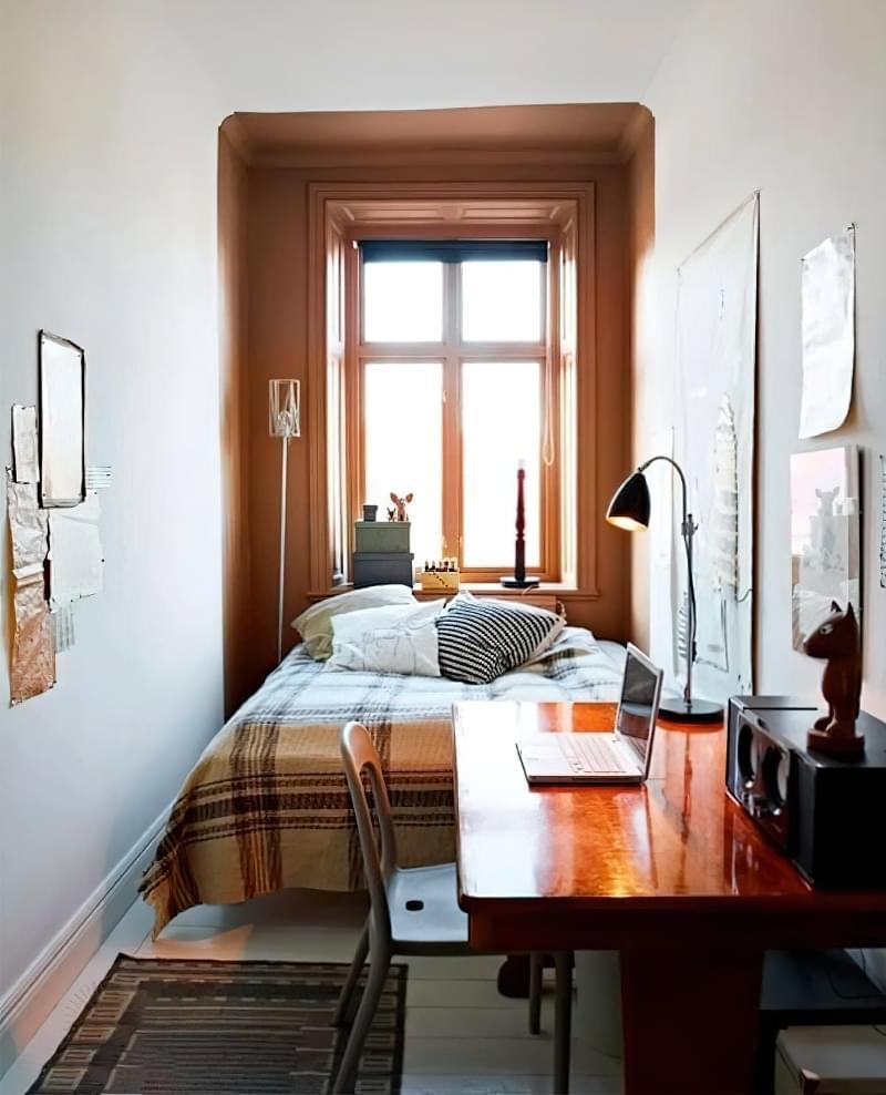 Вузька кімната з одним вікном: приклади облаштування 4