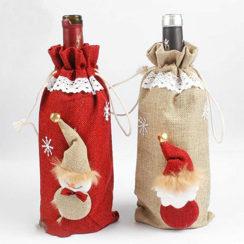Ідеї як прикрасити пляшку шампанського до Нового року 5