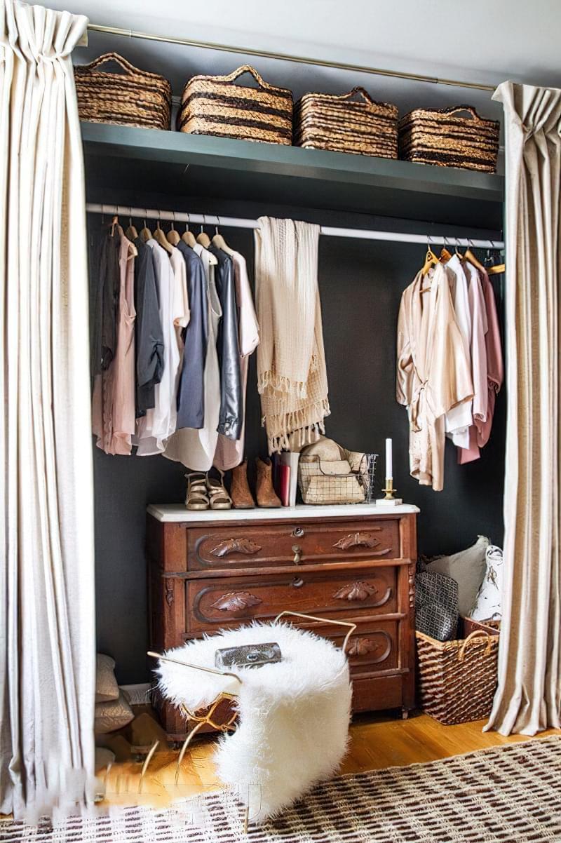 Креативні ідеї організації гардеробної кімнати 10