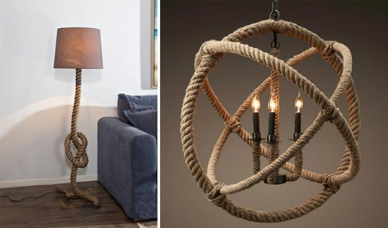 Канати і мотузки в декорі інтер'єру 2