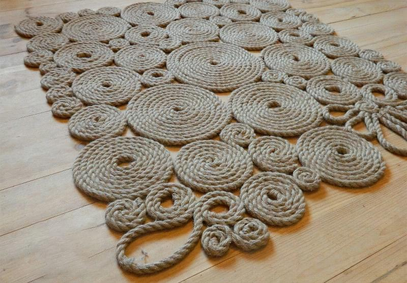Канати і мотузки в декорі інтер'єру 8