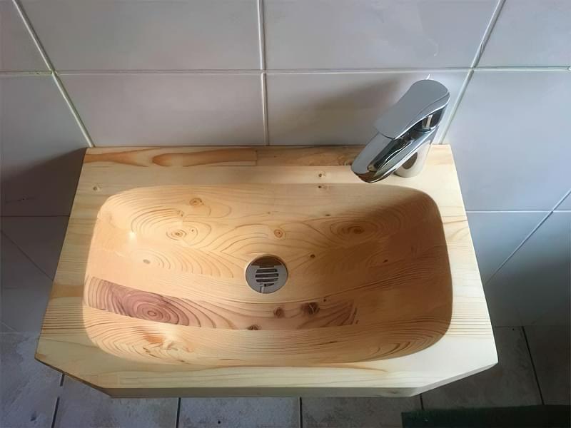 Дерев'яна сантехніка: плюси, мінуси, приклади, фото 4