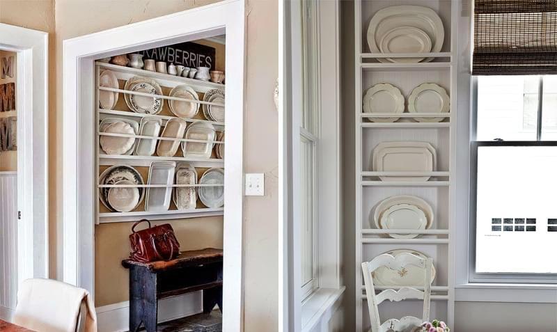 Ідеї зберігання великого посуду на кухні 9