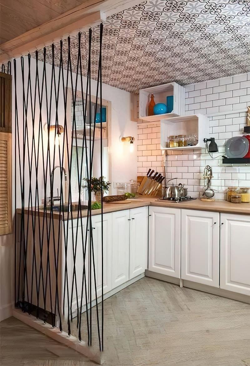 Перегородки між кухнею і вітальнею: приклади облаштування 8