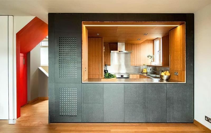 Перегородки між кухнею і вітальнею: приклади облаштування 10