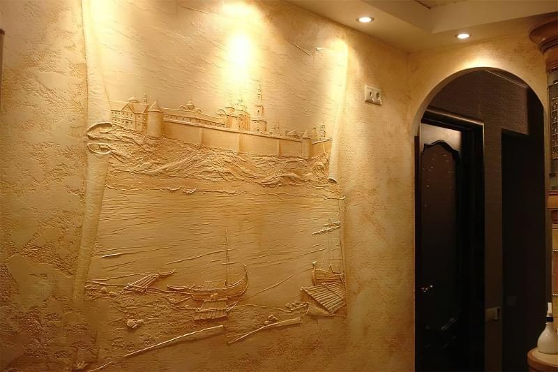 Рельєфна обробка стін: матеріали і техніка виконання 1