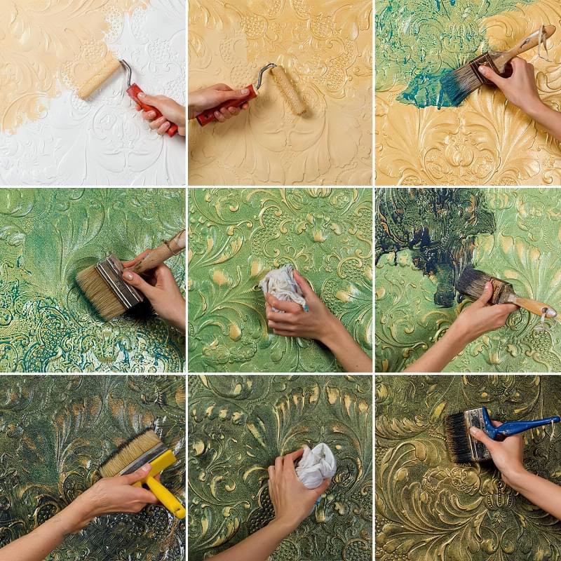 Рельєфна обробка стін: матеріали і техніка виконання 8