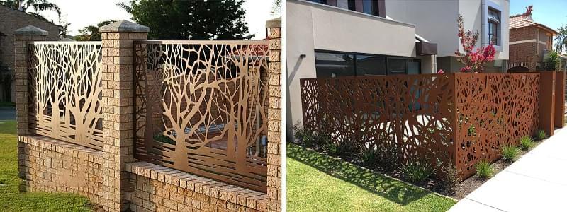 Сучасні варіанти парканів: єврожалюзі, металевий паркан, алюмінієві панелі 5