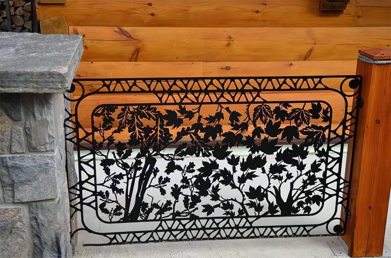 Сучасні варіанти парканів: єврожалюзі, металевий паркан, алюмінієві панелі 6