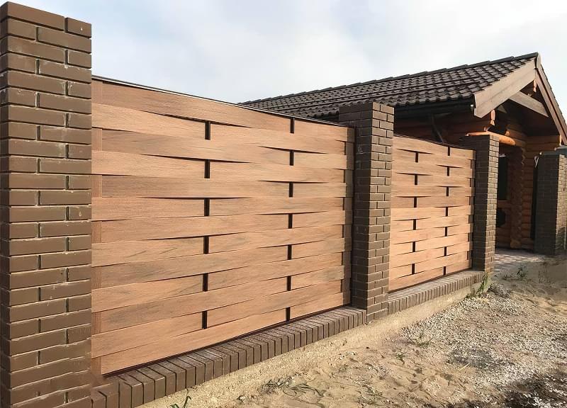 Сучасні варіанти парканів: єврожалюзі, металевий паркан, алюмінієві панелі 8